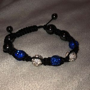Jewelry - Blue and silver disco ball bracelet